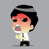 Businessman angry.vector Royalty Free Stock Images