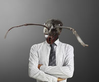 Businessman with a ant's head Stock Images