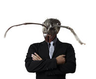 Businessman with a ant's head Royalty Free Stock Photography