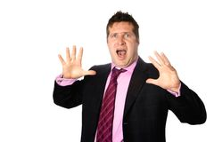 Businessman appearing shocked Stock Photos