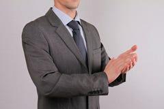 Businessman applauding slose up. Teamwork,  success concept Stock Photo