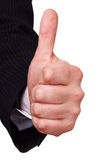 Businessman approval gesture Royalty Free Stock Photos