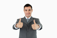 Businessman approving Royalty Free Stock Photo
