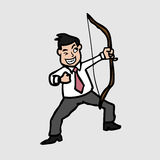 Businessman and archer Stock Image