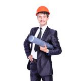 Businessman architect planning Royalty Free Stock Photography