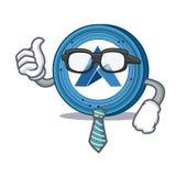 Businessman Ardor coin character cartoon. Vector illustration Royalty Free Stock Images