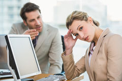 Businessman arguing with a colleague Stock Images