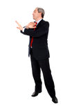 Businessman arguing with his hands Royalty Free Stock Photography