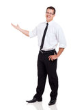 Businessman arm out Stock Photography
