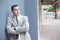 Businessman with arms crossed Royalty Free Stock Images