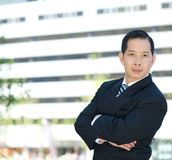 Businessman with arms crossed Royalty Free Stock Image