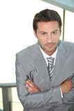 Businessman with arms crossed. Royalty Free Stock Photography