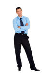 Businessman with arms folded Stock Images