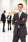 Businessman arms folded Royalty Free Stock Photography