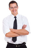 Businessman arms folded Stock Image