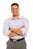 Businessman with arms folded Stock Photography
