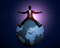 Businessman with arms outstretched Stock Photo