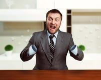 Businessman without arms Stock Photos
