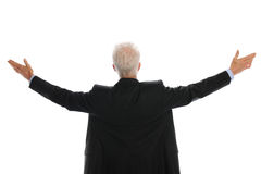 Businessman with arms wide open Royalty Free Stock Photos
