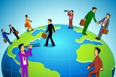 Businessman around the World Royalty Free Stock Photos