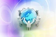 Businessman around the world, Teamwork concept Stock Image