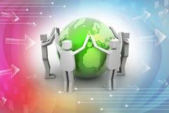 Businessman around the world, Teamwork concept Stock Images