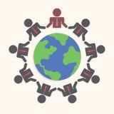 Businessman around the world, Teamwork concept Stock Photos