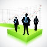 Businessman on Arrow Stock Photography