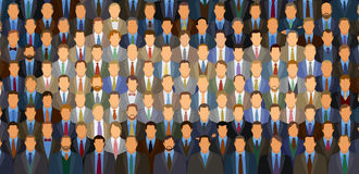 Businessman Arrow. 100 businessmen sitting in theater in the shape of and arrow. All heads are unique- No repeats stock illustration