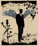 Businessman as an angel01 Stock Photos