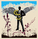 Businessman as an angel04 Royalty Free Stock Images