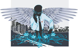 Businessman as an angel05 Royalty Free Stock Photo