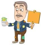 Businessman - As a beggar Royalty Free Stock Photos