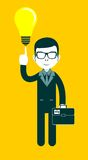 Businessman as a symbol of having an idea Royalty Free Stock Image
