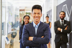 Businessman as young entrepreneur Stock Image