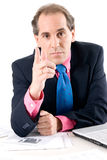 Businessman asking for explanations Stock Image
