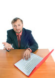 A businessman asking question Royalty Free Stock Photography