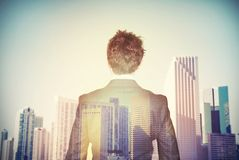 Businessman aspires to success Royalty Free Stock Photo