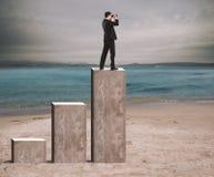 Businessman aspires to success Stock Image