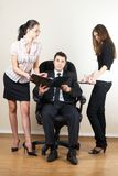 Businessman with assistants Stock Photos