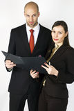 Businessman with Assistent Stock Photography