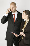 Businessman with Assistent Stock Images