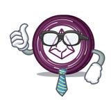 Businessman Augur coin character cartoon. Vector illustration Stock Photography
