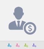 Businessman Avatar & Dollar - Granite Icons Royalty Free Stock Images