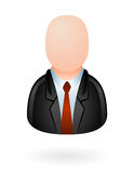Businessman avatar glossy. Illustration of custom avatar with blank face as businessman, use it on economy and finance web sites, comments and forums Royalty Free Stock Photo