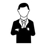 Businessman avatar isolated icon. Illustration design Stock Images