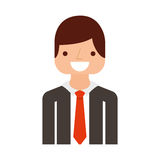 Businessman avatar line icon. Vector illustration design Royalty Free Stock Images