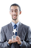Businessman with award Stock Photos