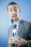 Businessman awarded with  award Stock Photos
