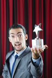 Businessman awarded with  award Royalty Free Stock Photography